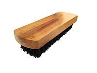 Щетка для чистки  обуви  деревяная  (148мм) с черным ворсом (19 мм),  W-11