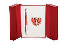 Подарочный набор ручка и держатель для сумки Лета красный