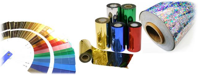Виды фольги для тиснения, фольга для тиснения, золотая фольга для тиснения, голографическая фольга для тиснения