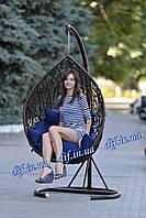 """Подвесное кресло из ротанга """"Черное"""""""