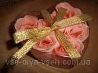 Подарочное мыло-розочки, 6 шт в упакопке