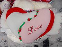 Подушка Сердце(мягкое) с крыльями 35*55