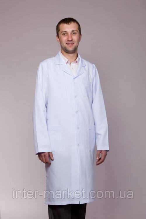 Мужской медицинский халат габардин