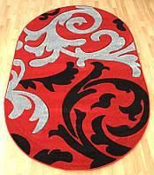 Стильный ковер ковер с рисунком красного цвета