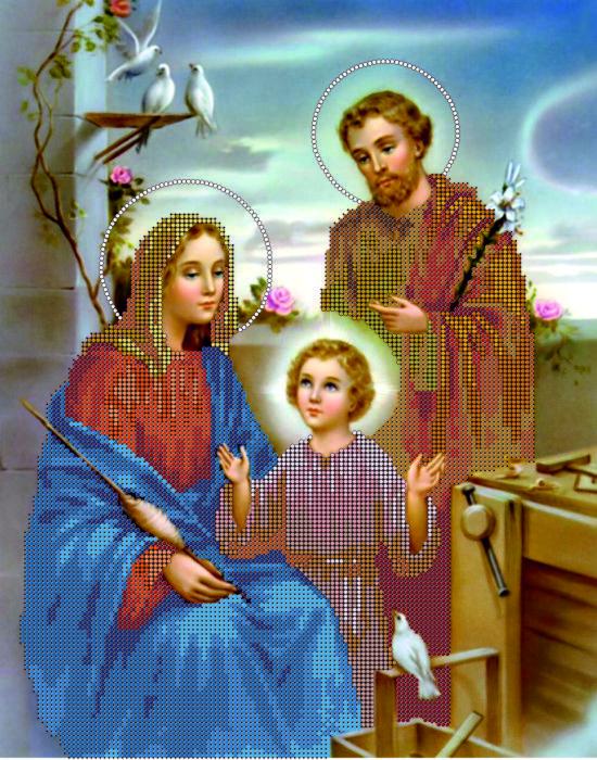 Схема для вышивания бисером Святая семья КМР 3176