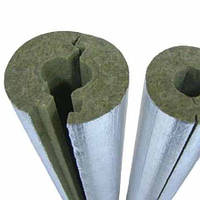 Фольгированная базальтовая скорлупа - цилиндры для теплоизоляции труб, фото 1