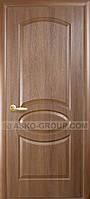 Межкомнатная дверь 'Новый стиль' Фортис De Luxe дверь R Овал глухая золотая ольха. Недорогие, качественные, надежные двери.