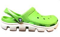 Мужские кроксы Crocs Duet Sport Clog Green White