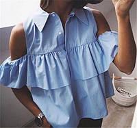 Женская блуза летняя открытые плечи а97