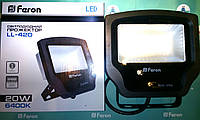 Светодиодный прожектор многоматричный с матовым стеклом FERON LL-420 20W 20LED 6400K 230V