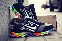 Мужские кроссовки Nike SpringBlade (Черный, оранжевый, салатовый)