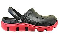 Мужские кроксы Crocs Duet Sport Clog Black Red