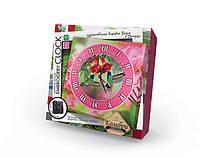 DankoToys Вышивка Часы EC-01-04 Embroidery Clock