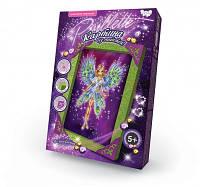 DankoToys Пайетки Волшебница в светлом платье Картина из пайеток Набор для творчества