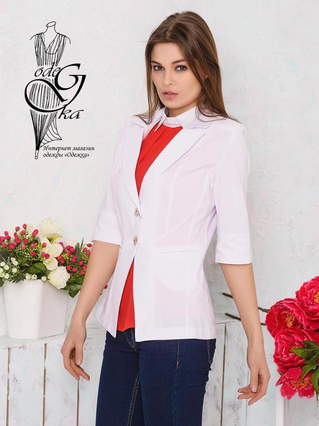 Подобные товары Летнего пиджака женского с рукавом ¾ из Бенгалина без подкладки-3