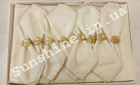 Скатерть Pinarcan Berfin Турция 160х220 + 8 салфеток с держателями Versace, фото 1