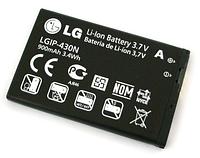 Аккумулятор для LG GW300 GS290 T300 T310 T315 KF301 LGIP-430N 900 mah