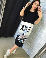 Прямое платье Black-White