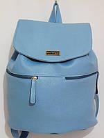 Рюкзак кож.зам голубой, фото 1