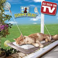 Кровать-подстилка оконная для кота Sunny Seat Window Mounted Cat Bed