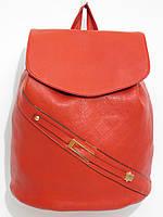 Рюкзак кож.зам классический красный, фото 1