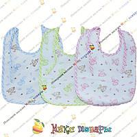 Слюнявчики Х/Б + клеёнка 12 шт в упаковке Размер: 25х 20 см (4327)