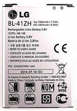 Аккумулятор для LG L Fino D295 Leon H324 BL-41ZH 1900 mah