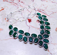 Колье, ожерелье из натуральных ИЗУМРУДОВ