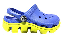 Детские Crocs Duet Sport Clog Blue Green