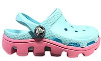 Детские Crocs Classic Cayman Light Blue Pink