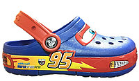 Детские Crocs Cars CrocsLights Clog Blue (СВЕТЯТСЯ)