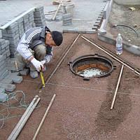 Укладка тротуарной плитки по бетону