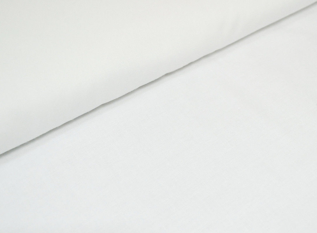Хлопковая ткань однотонная белая ширина 1,60 м