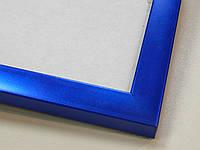 Рамка А4 (219х297).Рамка пластиковая 16 мм.Синий металлик.