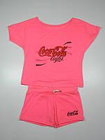 Летний пляжный костюм Турция размер 42-50 розовый 42