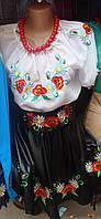 Шифонова блуза вышиванка