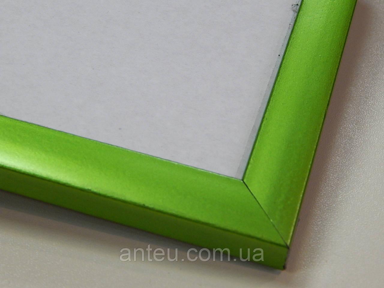 Рамка А4 (297х210).Рамка пластиковая 16 мм.Салатовый металик.