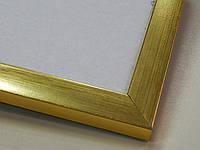 Рамка А4 (297х210).Рамка пластиковая 16 мм.Золото.