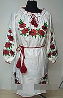 Платье вышитое маки