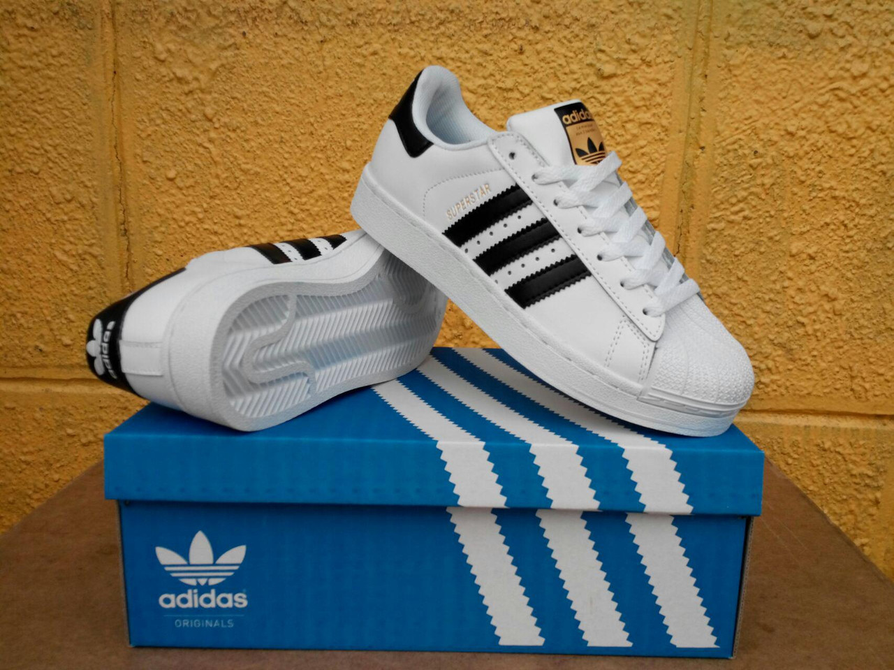 7e10fc13d3c8bb Кроссовки Adidas Superstar Supercolor white black gold. Живое фото.  Самовывоз (Реплика