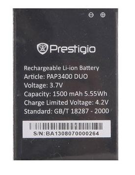Аккумулятор для Prestigio PAP3400 1500 mah