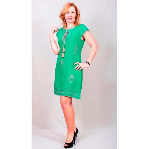 401f8683205 Яркое летнее женское платье зеленого цвета - купить по лучшей цене в ...