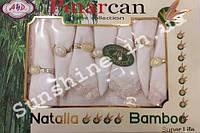 Скатерть Pinarcan Natalia bamboo Турция 160х220 + 8 салфеток с держателями Versace, фото 1