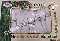 Скатерть Pinarcan Natalia bamboo Турция 160х220 + 8 салфеток с держателями Versace