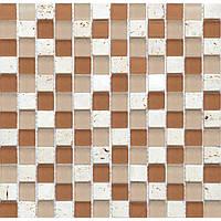 Мозаика для кухонного фартука камень со стеклом Vivacer CS11