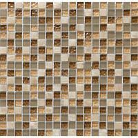 Мозаика мрамор стекло Vivacer DAF1