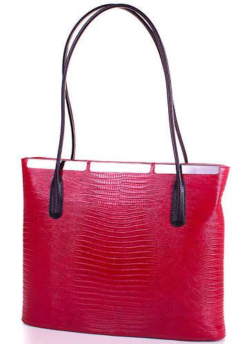 Яркая женская кожаная сумка DESISAN (ДЕСИСАН) SHI3771LZ красная