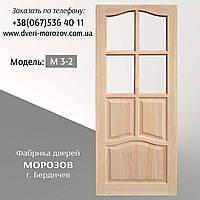 Межкомнатные двери из массива сосны М 3/2 серии Каприз под остекление