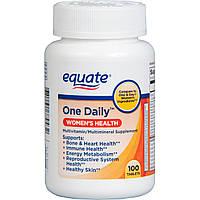 """Мультивитамины для женщин Equate """"Одна штука в День"""", (100 таб.)"""