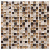 Мозаика из натурального камня бежевая с золотом Vivacer DAF4